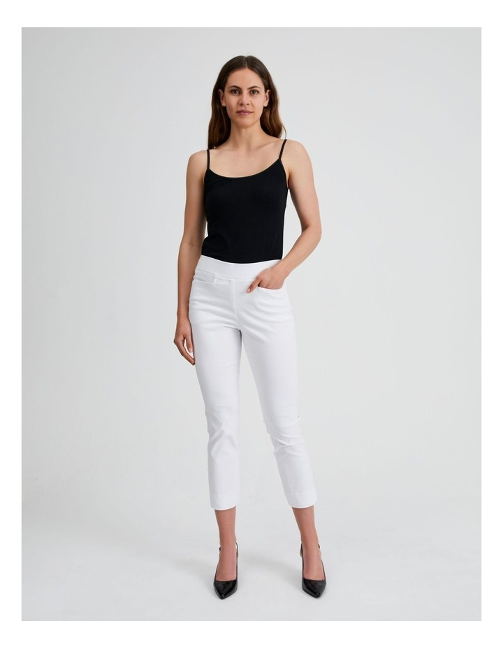 Essential Stretch Crop Pant in Blanc White image 4