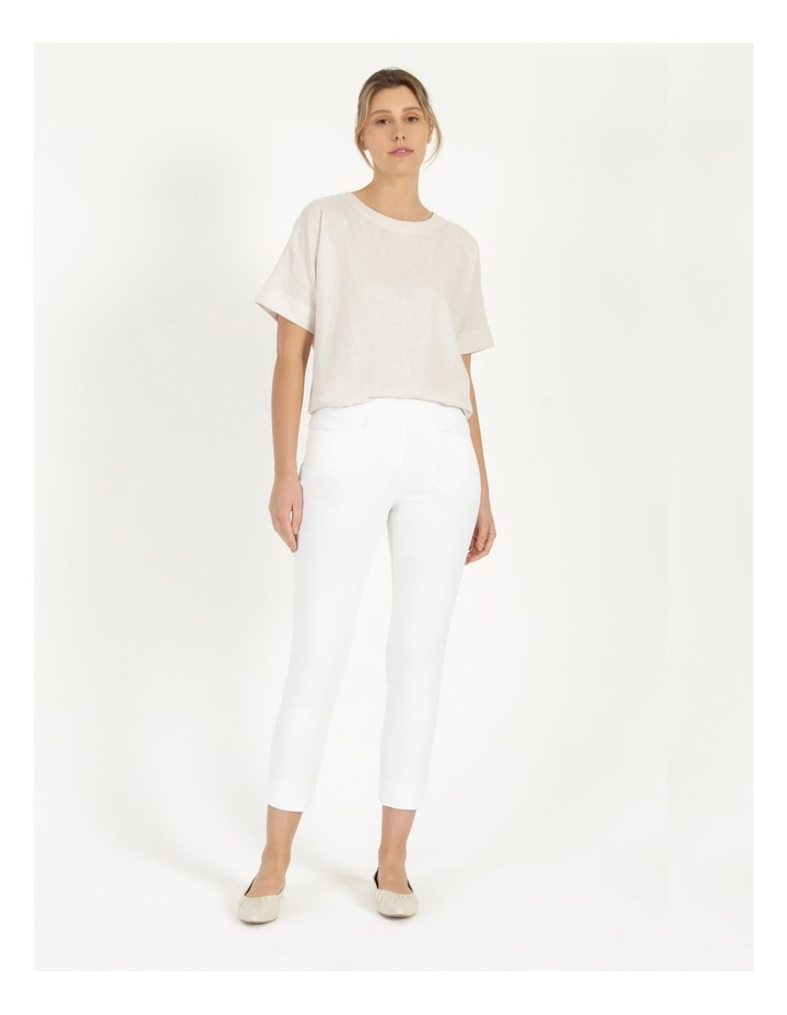 Essential Stretch White Crop Pants image 5