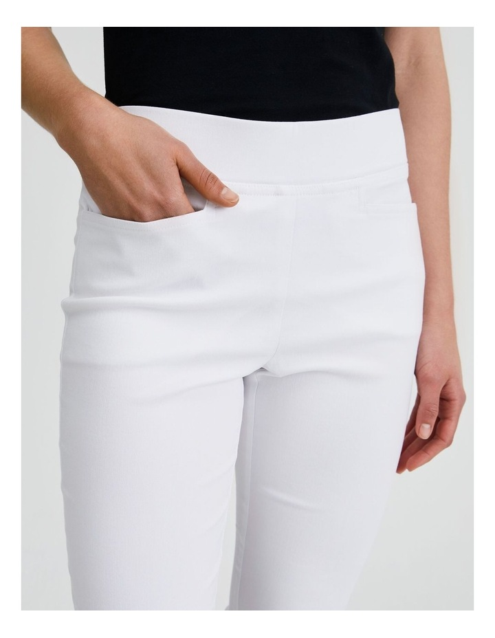 Essential Stretch Crop Pant in Blanc White image 5
