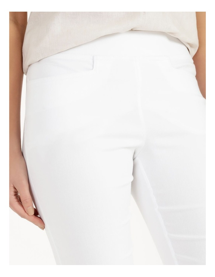 Essential Stretch White Crop Pants image 6