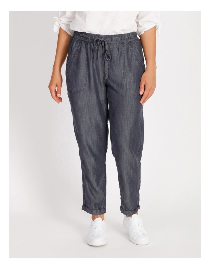 Elastic Waist Pant With Side Panels And Cuff image 1