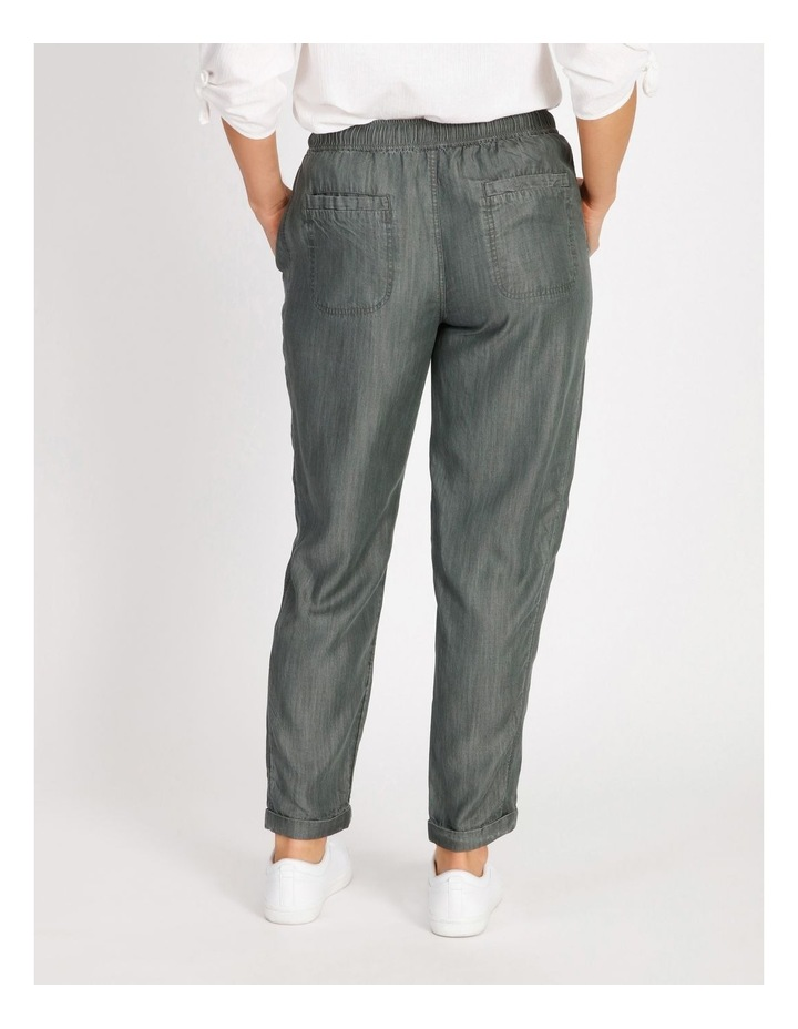 Elastic Waist Pant With Side Panels And Cuff image 3