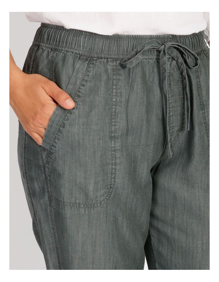 Elastic Waist Pant With Side Panels And Cuff image 4