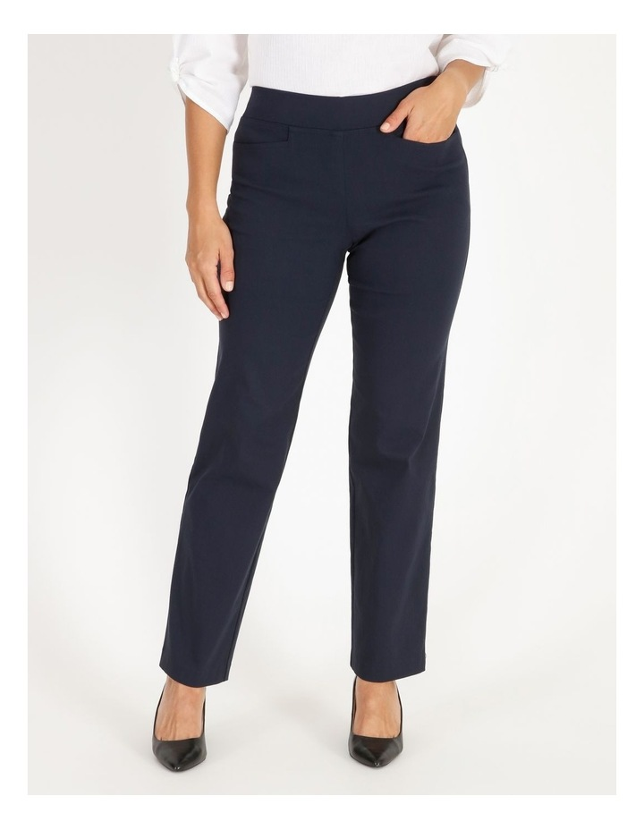 Wardrobe Staple Straight Full Length Pant in French Navy image 1