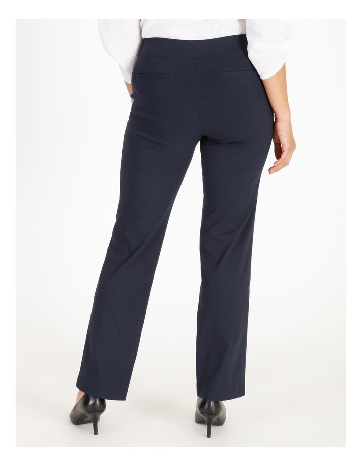 Wardrobe Staple Straight Full Length Pant in French Navy image 3