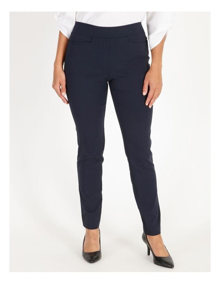Wardrobe Staple Slim Full Length Pant in French Navy image 1
