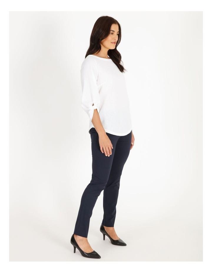 Wardrobe Staple Slim Full Length Pant in French Navy image 2