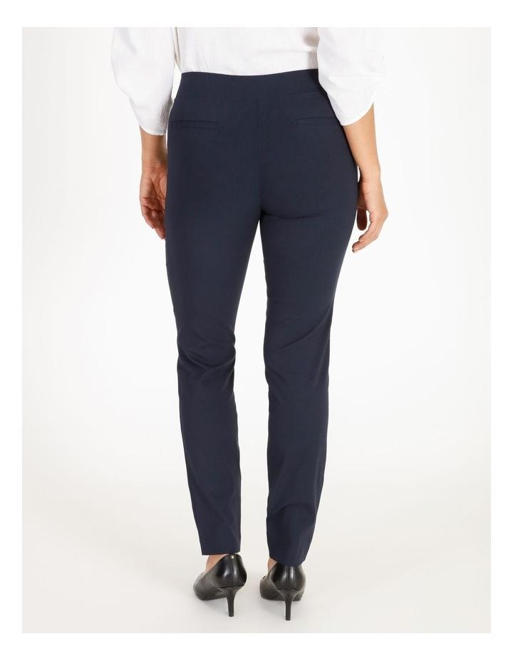 Wardrobe Staple Slim Full Length Pant in French Navy image 3