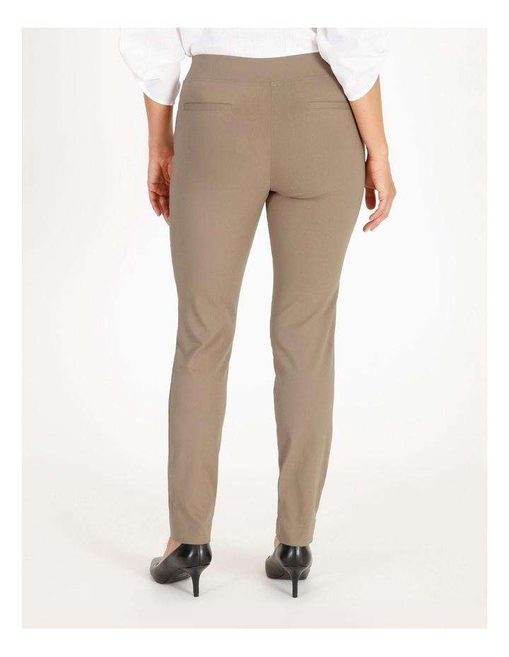 Wardrobe Staple Slim Full Length Pant in Stone image 3