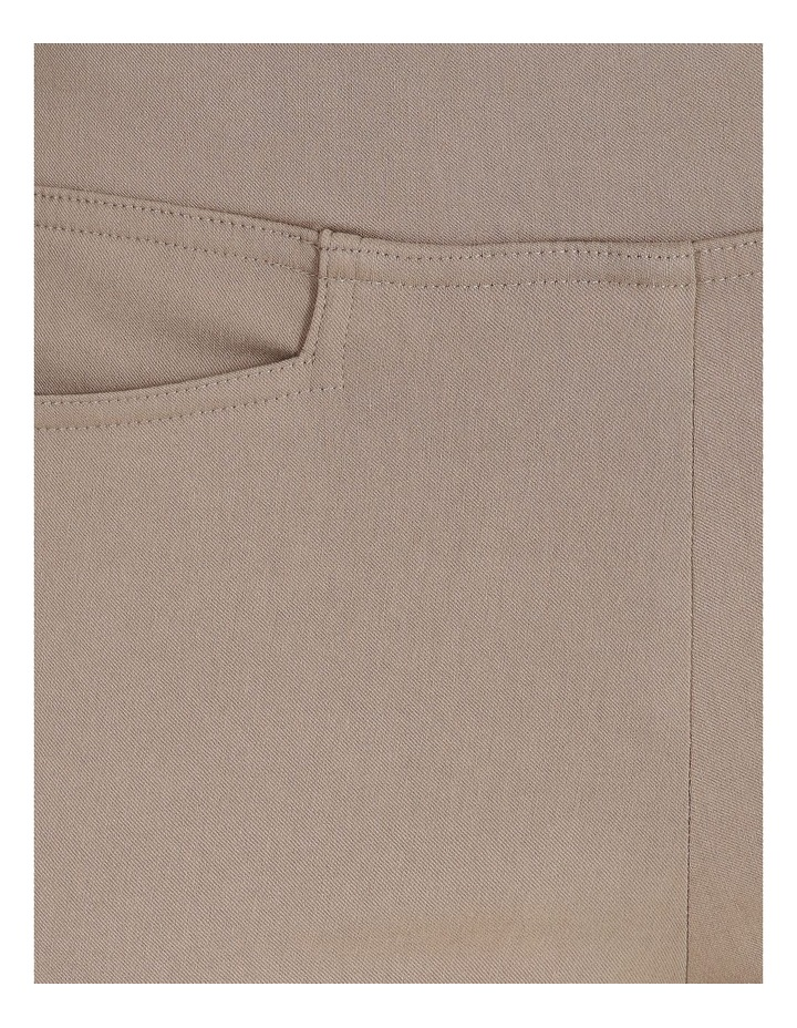 Wardrobe Staple Slim Full Length Pant in Stone image 5