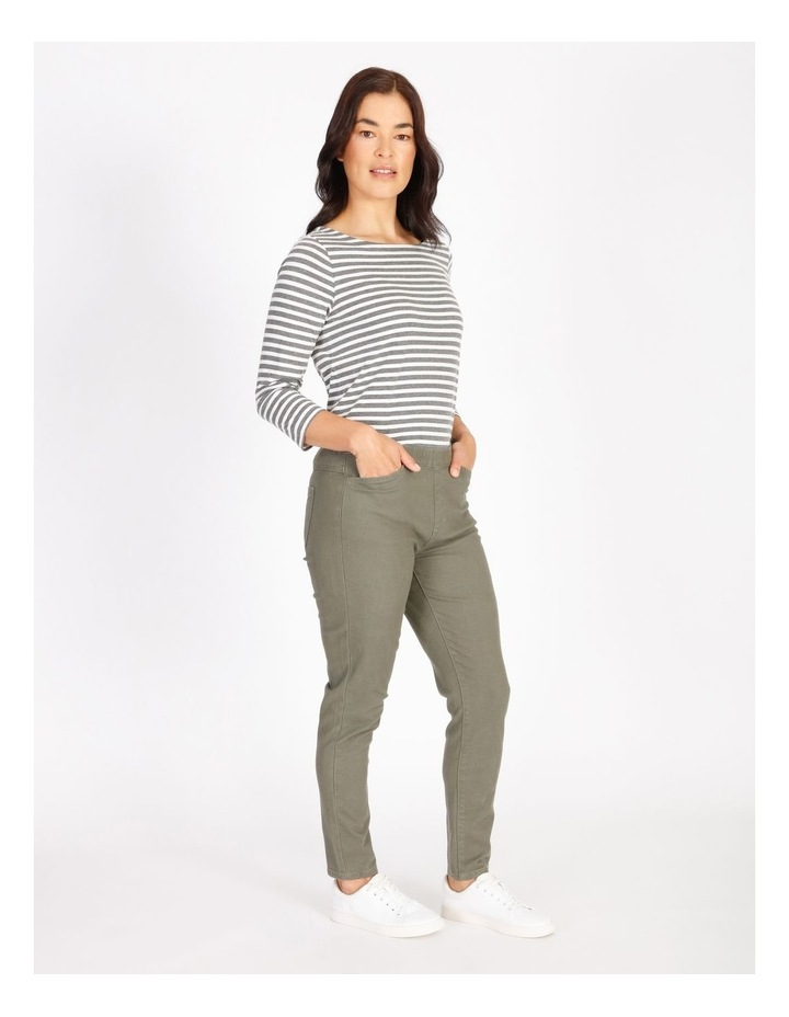 Olive Grove Elastic Waist Pant With Front & Back Pockets image 2