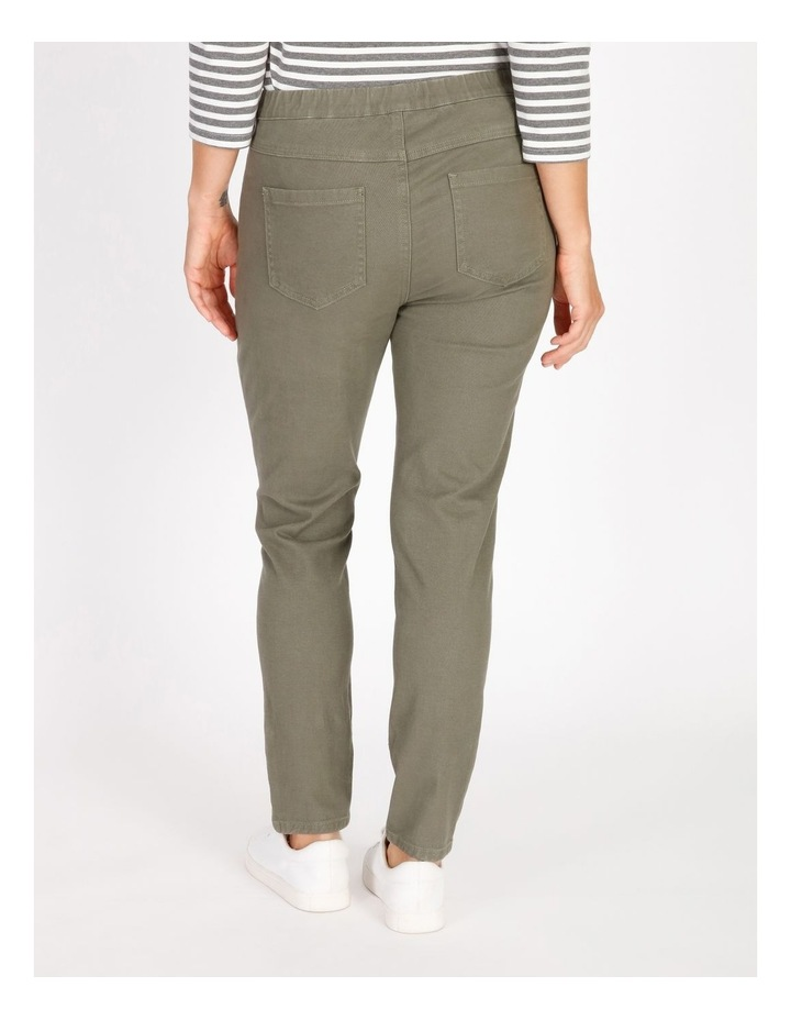 Olive Grove Elastic Waist Pant With Front & Back Pockets image 3
