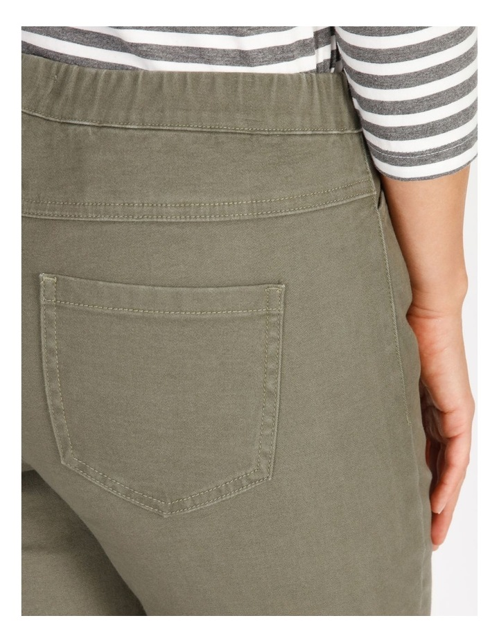Olive Grove Elastic Waist Pant With Front & Back Pockets image 4