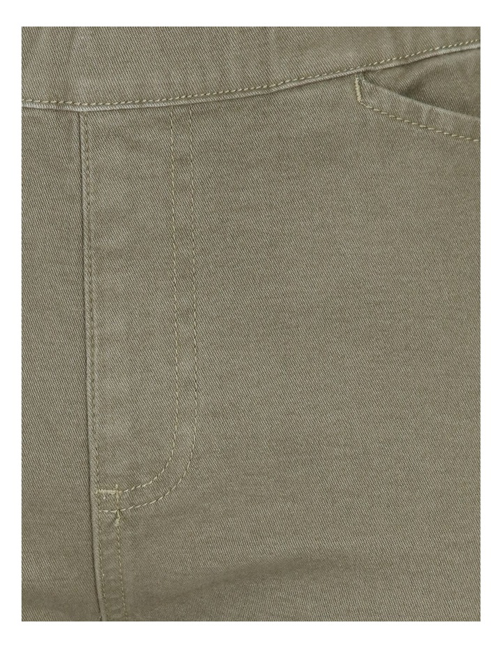 Olive Grove Elastic Waist Pant With Front & Back Pockets image 5