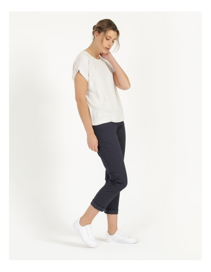 Rolled Cuff Chino Pants Navy image 3