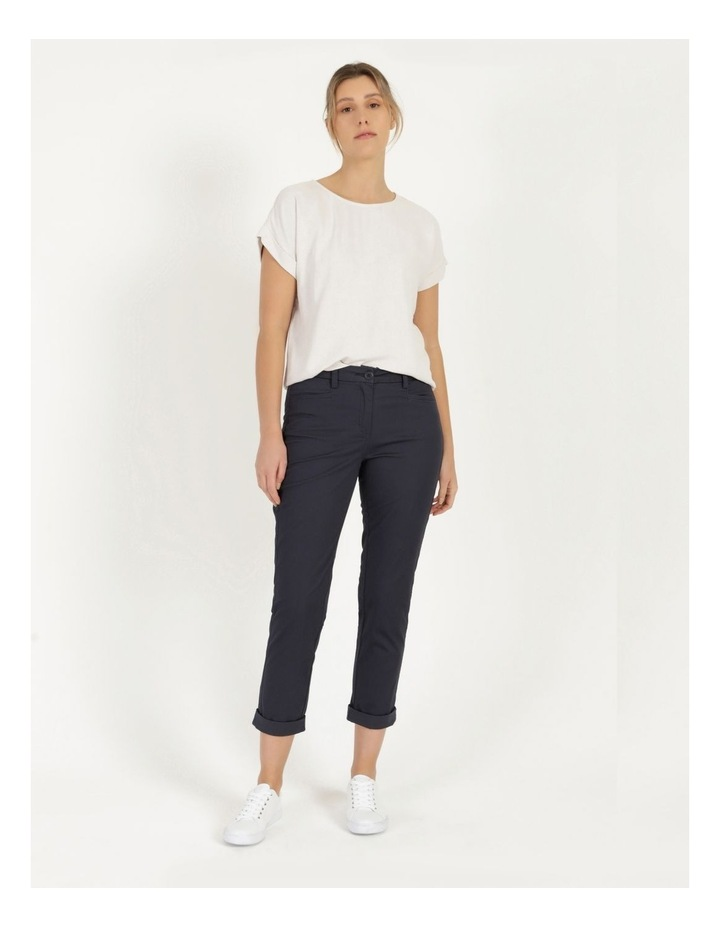 Rolled Cuff Chino Pants Navy image 5
