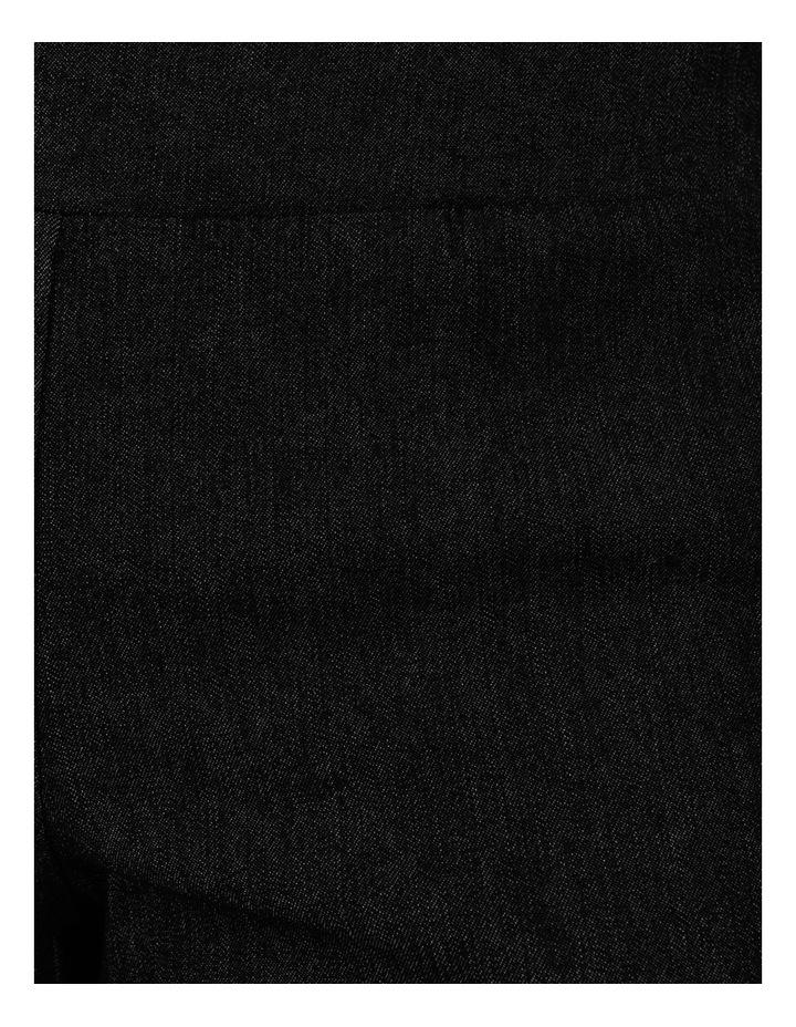 Stretch Cropped Straight Leg Pockets Pant Charcoal Denim image 7
