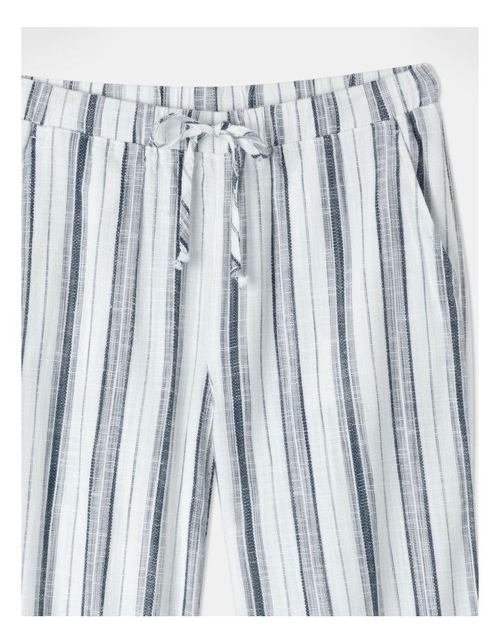 Elastic Tie Waist Pant Indigo/White Stripe image 2