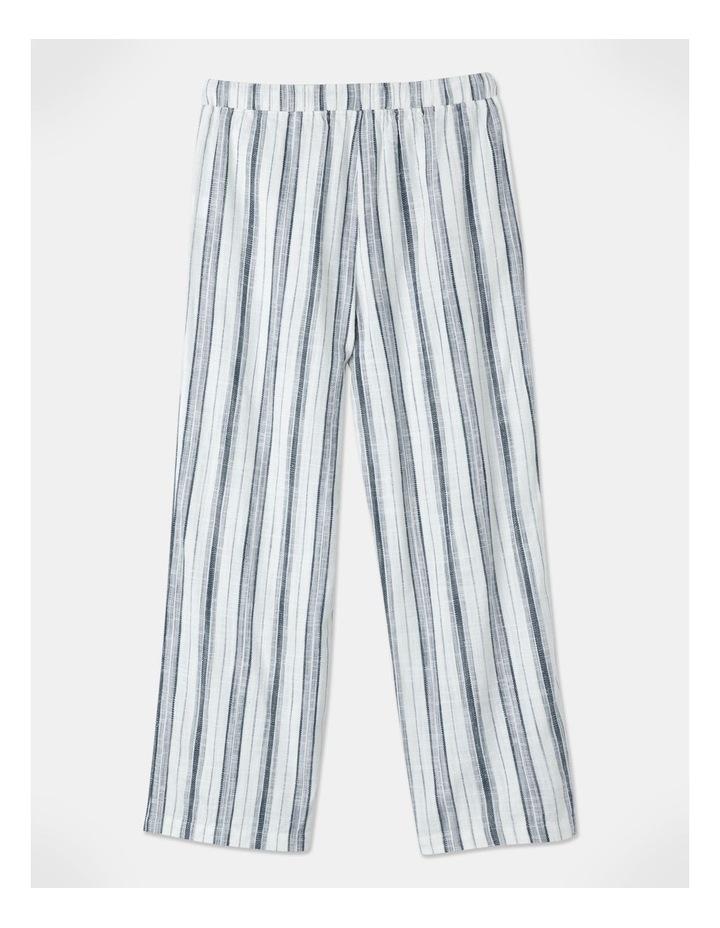 Elastic Tie Waist Pant Indigo/White Stripe image 3