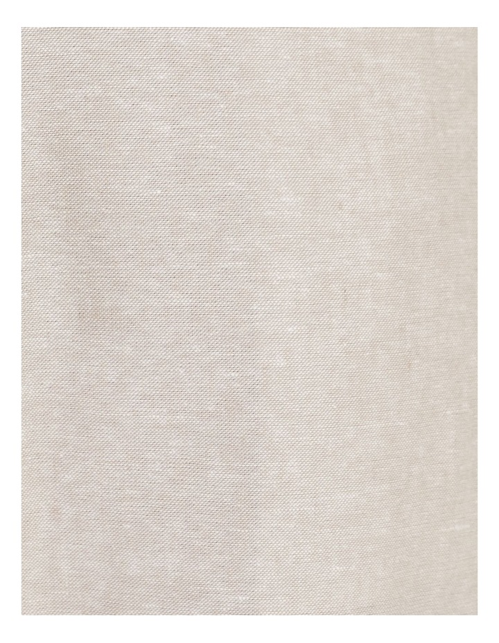 Linen Blend Straight Leg Pant Oatmeal Cross Dye image 7