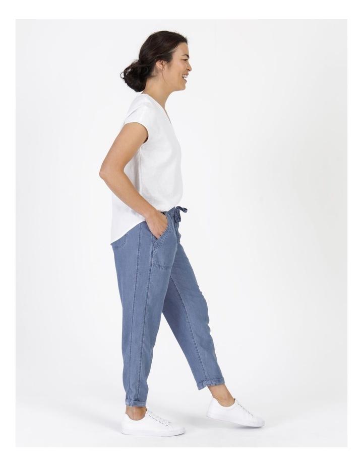 Elastic Waist Side Panels And Cuff Pant Indigo image 6