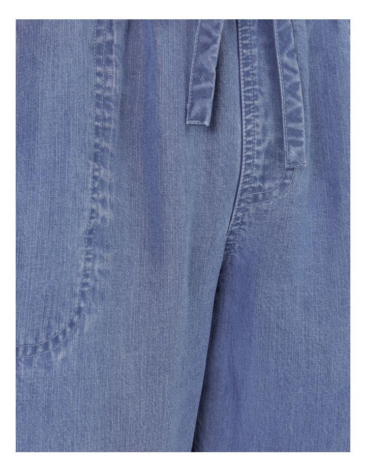 Elastic Waist Side Panels And Cuff Pant Indigo image 7
