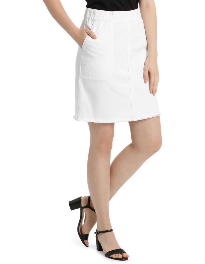 Pull On Denim Skirt image 2