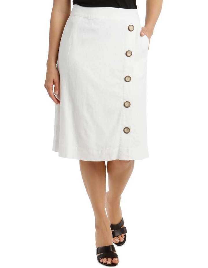 Side Button Skirt With Pockets image 1