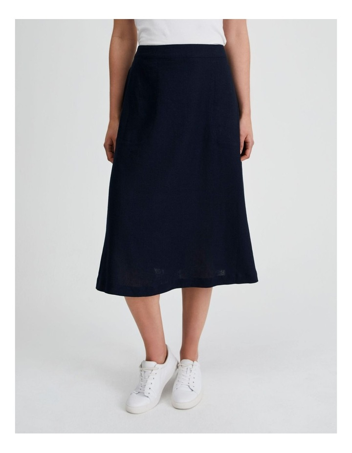 Flared Skirt With Back Elastic And Pockets image 1