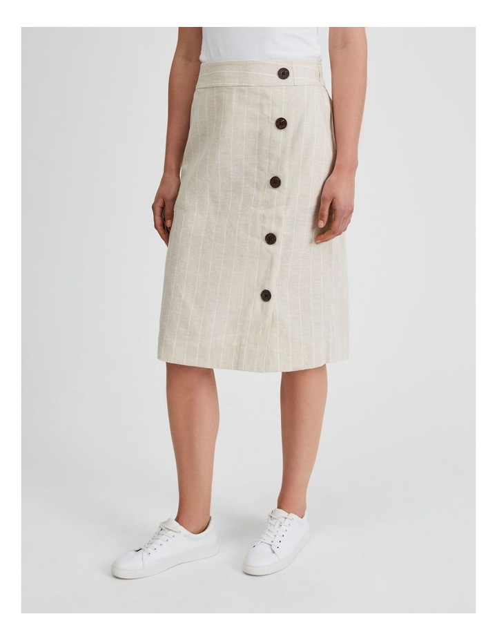 Side Button Skirt With Elastic Back image 2