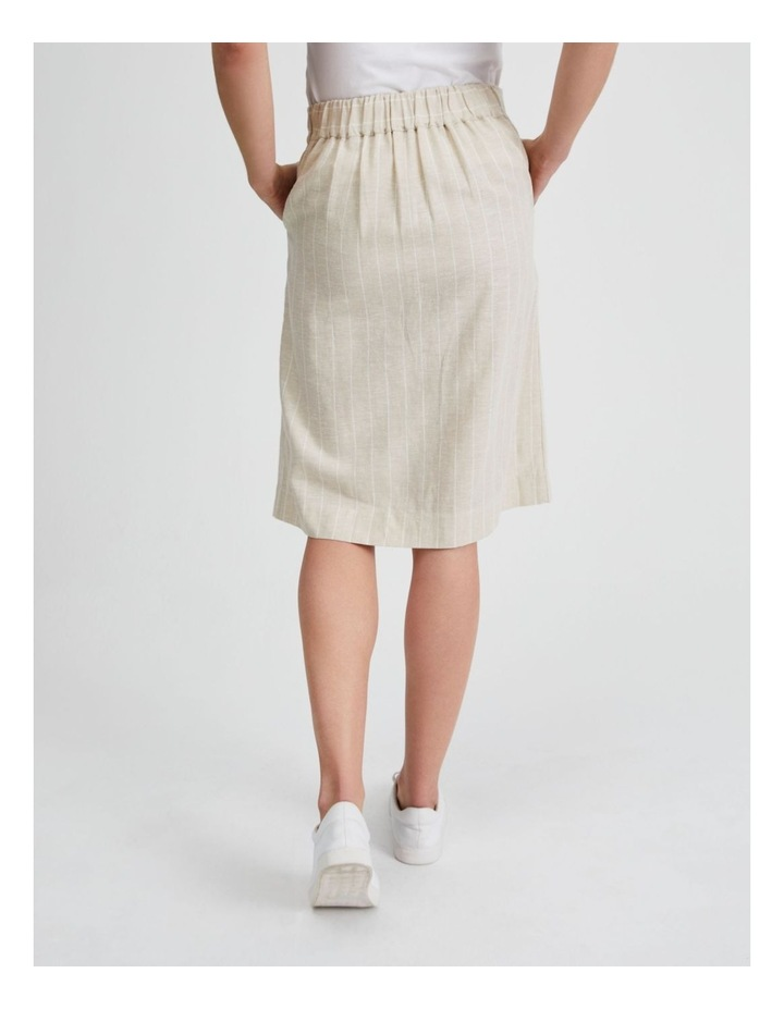 Side Button Skirt With Elastic Back image 3