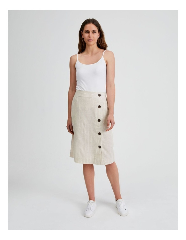 Side Button Skirt With Elastic Back image 4