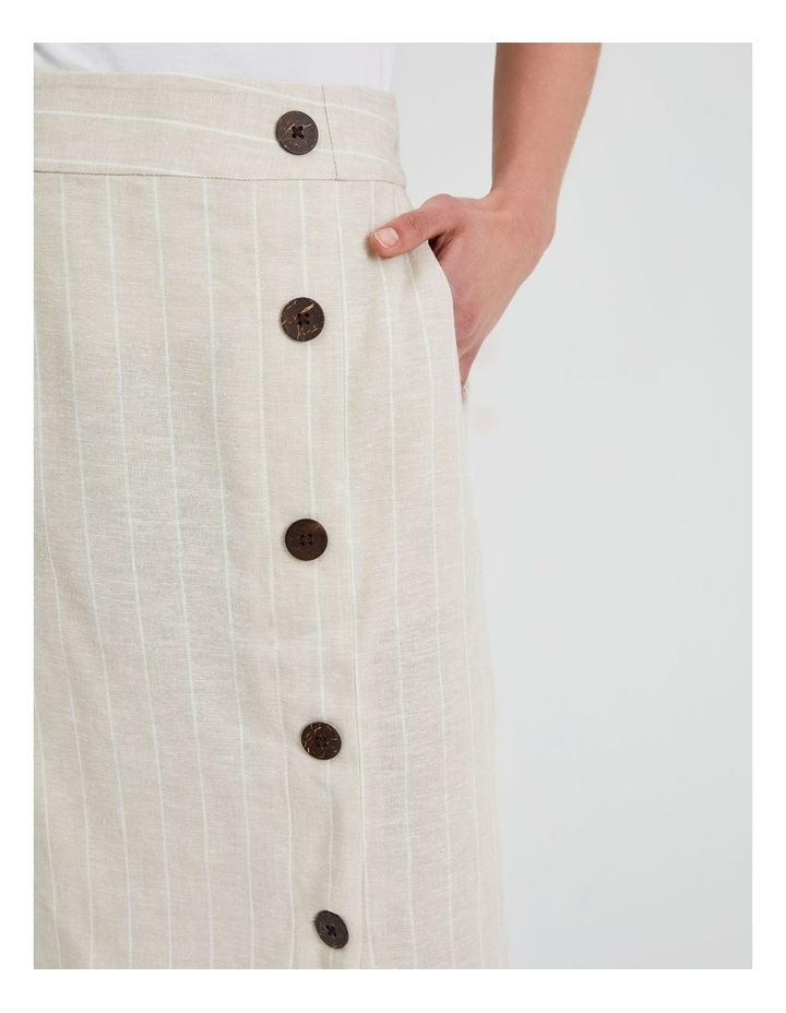 Side Button Skirt With Elastic Back image 5