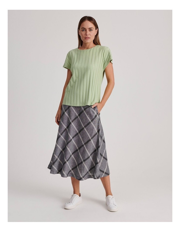 Flared Skirt With Back Elastic And Pockets image 2