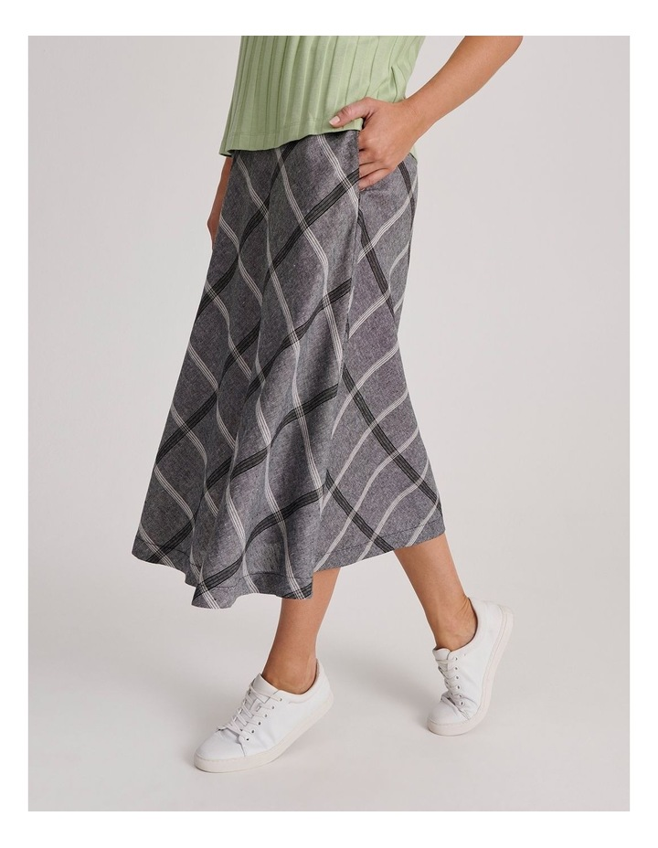Flared Skirt With Back Elastic And Pockets image 3