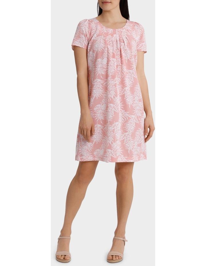 Soft Floral Viscose Short Sleeve Dress image 1