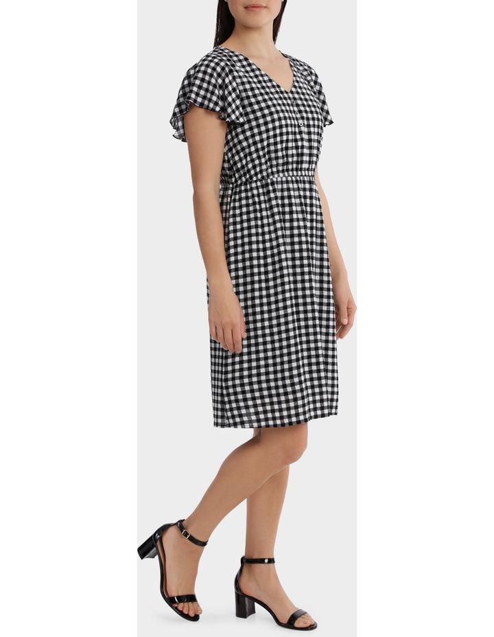 Contrast Paisley Stretch Waist Short Sleeve Dress image 2
