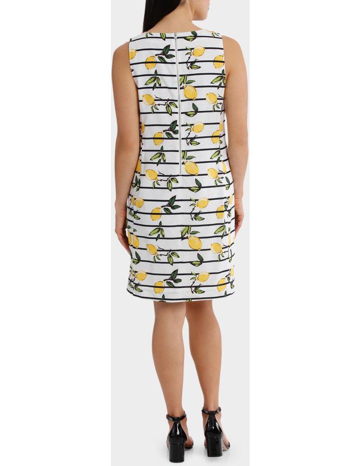 Stripe Lemon Linen Sleeveless Dress image 3