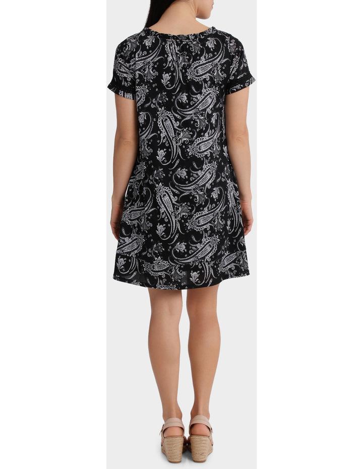 Monotone Paisley Mesh Short Sleeve Dress image 3
