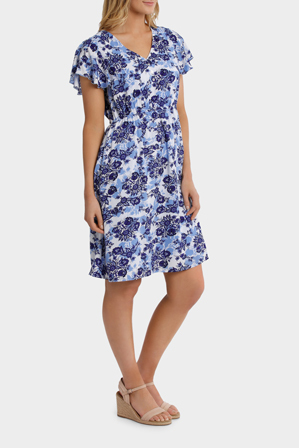 Regatta - Chinoiserie Floral Stretch Waist Dress