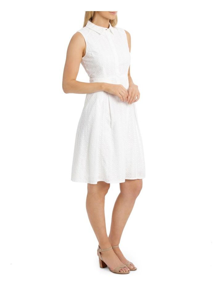 Solid Broderie Sleeveless Dress image 2