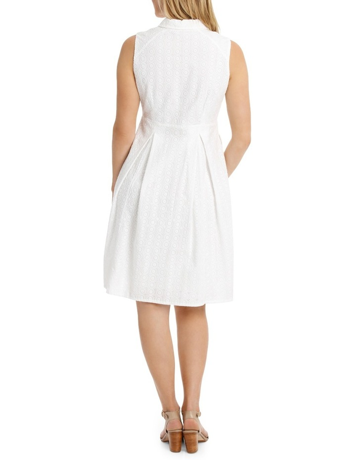 Solid Broderie Sleeveless Dress image 3