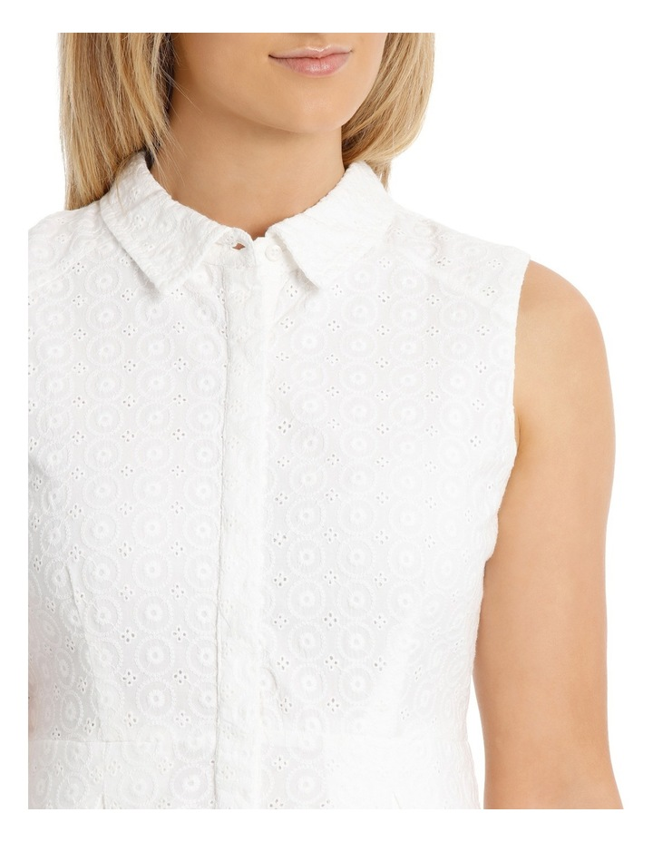 Solid Broderie Sleeveless Dress image 4