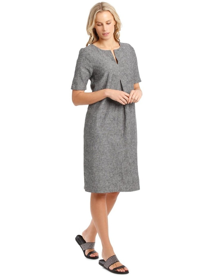 Short-Sleeve Cross-Dye Dress with Front Tuck & Dart image 2