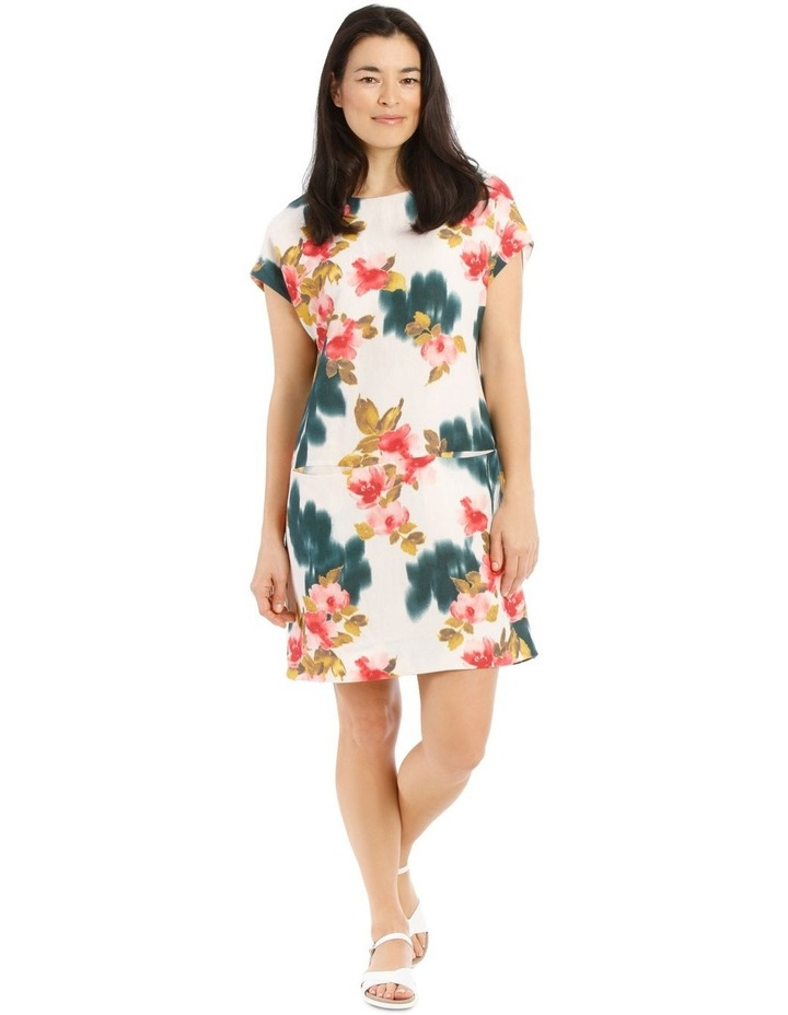 Dropped Shoulder Short Sleeve Dress With Pockets image 1