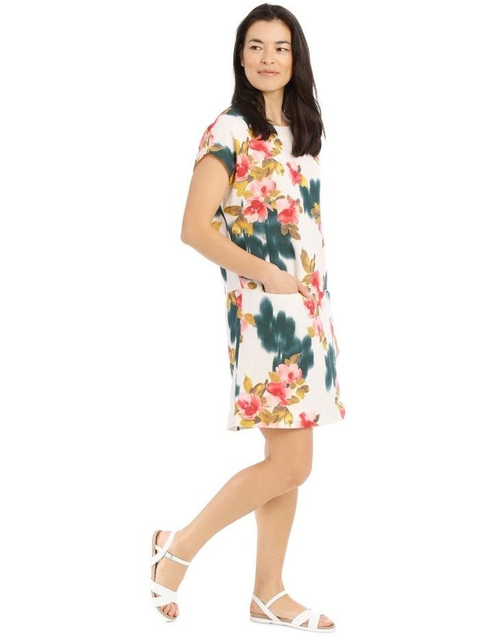 Dropped Shoulder Short Sleeve Dress With Pockets image 2