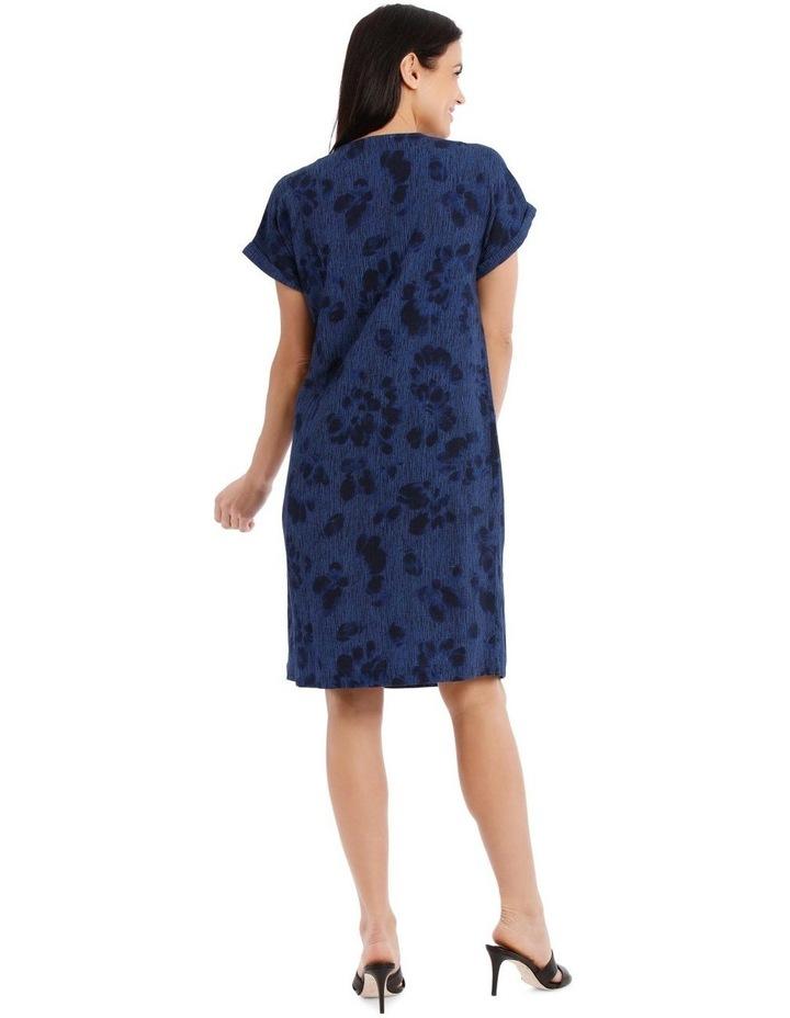 V-Neck Panel Magyar Sleeve Dress With Pocket image 3
