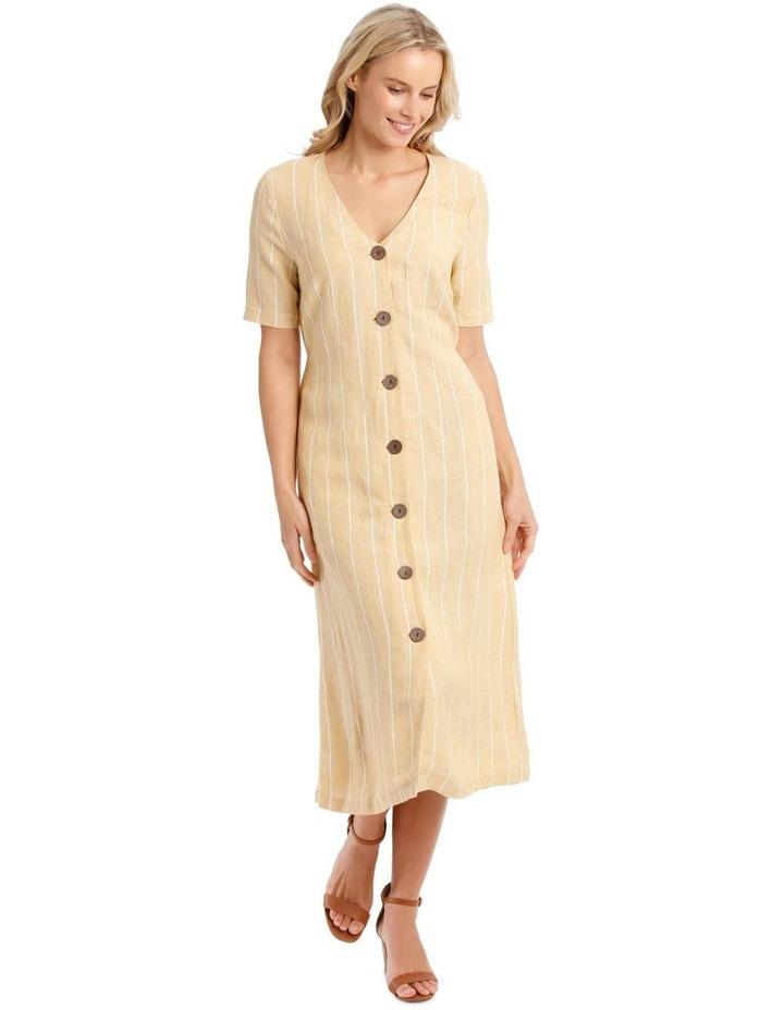 V Neck Button Front Dress image 1