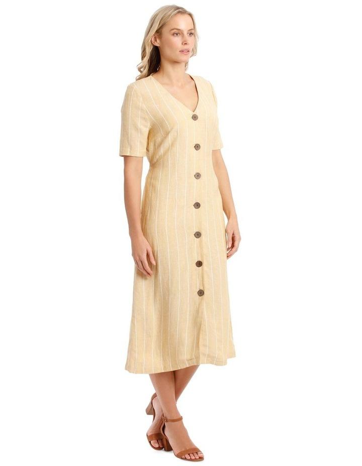 V Neck Button Front Dress image 2