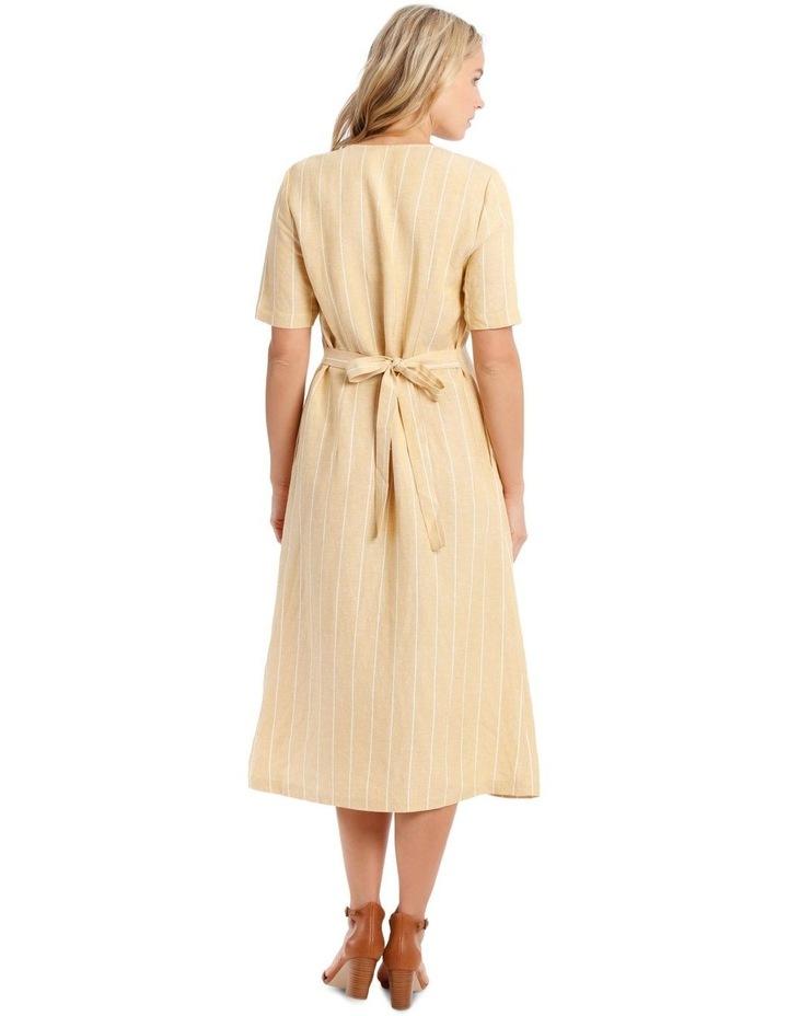 V Neck Button Front Dress image 3